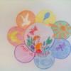 Радужный цветок,с символами детства! © Лисих Дарья, 2