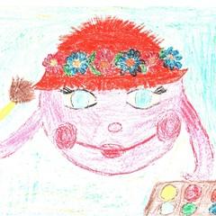"""Эмблема к фестивалю """"Праздник детства"""", руководитель И.Н. Белянчикова © Даша Фалалеева, Вика Новоструева"""