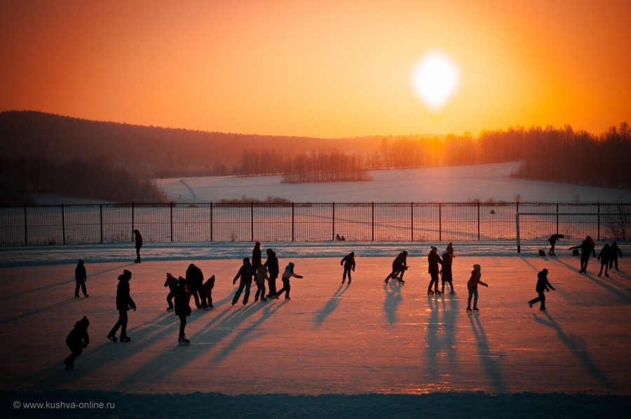Мороз и солнце на закате. © Виталий Быков